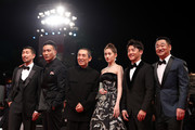 Qianyuan Wang, Hu Jun, Zhang Yimou, Guan Xiaotong, Kai Zheng and Wang Jingchun walk the red carpet ahead of the Ying (Shadow) and 2018 Jaeger-LeCoultre Glory To The Filmaker Award ceremony during the 75th Venice International Film Festival  at Sala Grande on September 6, 2018 in Venice, Italy.