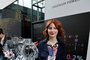 Alice Levine poses at the Technology with Heart: Jaguar Land Rover's Tech Fest at Central St Martins on September 7, 2017 in London, England.