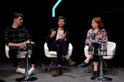 Daniel Howell, Jim Chapman and Alice Levine speak at the Technology with Heart: Jaguar Land Rover's Tech Fest at Central St Martins on September 7, 2017 in London, England.