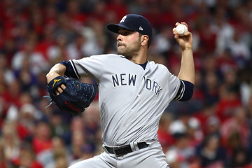 Jaime Garcia Divisional Round - New York Yankees v Cleveland Indians - Game One