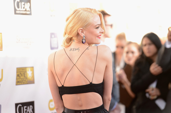 Jaime King at the 18th Annual Critics' Choice Movie Awards held at Barker Hangar on January 10, 2013 in Santa Monica, California.