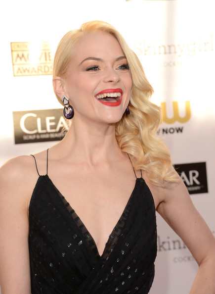 Jaime King Actress Jaime King arrives at the 18th Annual Critics' Choice Movie Awards held at Barker Hangar on January 10, 2013 in Santa Monica, California.