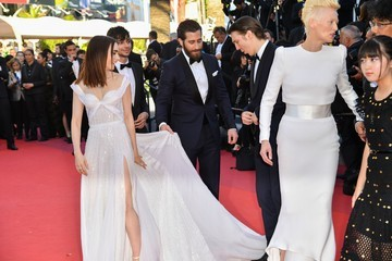 Jake Gyllenhaal Lily Collins 'Okja' Red Carpet Arrivals - The 70th Annual Cannes Film Festival