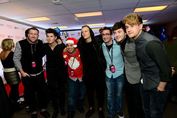 Jake Roche Lewis Morgan Backstage at Q102's Jingle Ball