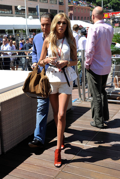 James Stunt Petra Ecclestone on the Red Bull Energy Station during the ...