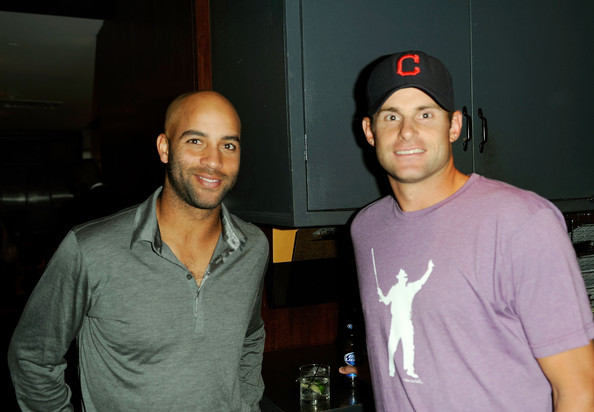 James Blake Foundation Annual Charity Event [fun,t-shirt,cool,friendship,event,party,smile,cap,tennis players,james blake,andy roddick,l-r,us,new york city,las chicas locas,james blake foundation annual charity event]