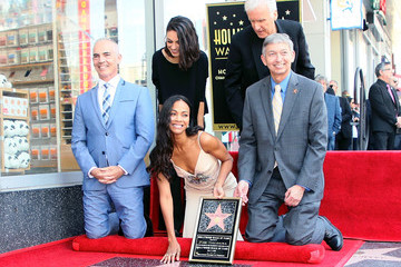 James Cameron Zoe Saldana Is Honored With A Star On The Hollywood Walk Of Fame