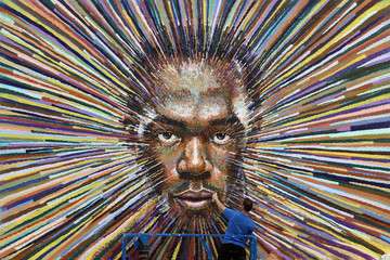 James Cochran James Cochran Aka Jimmy C's Artwork Of Runner Usain Bolt