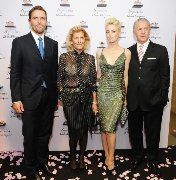 """Signorina"" New Ferragamo Fragrance Launch Party At White Rabbitt [event,fashion,dress,suit,premiere,formal wear,white-collar worker,carpet,tuxedo,smile,signorina,new ferragamo fragrance launch party,white rabbitt,launch party,white rabbit,giovanna gentile ferragamo,james ferragamo,amber heard,r,luciano bertinelli]"