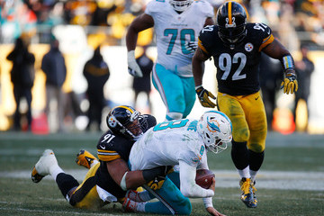 James Harrison Wild Card Round - Miami Dolphins v Pittsburgh Steelers
