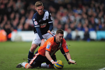 James Henry Greg Taylor Luton Town v Millwall - FA Cup Fifth Round