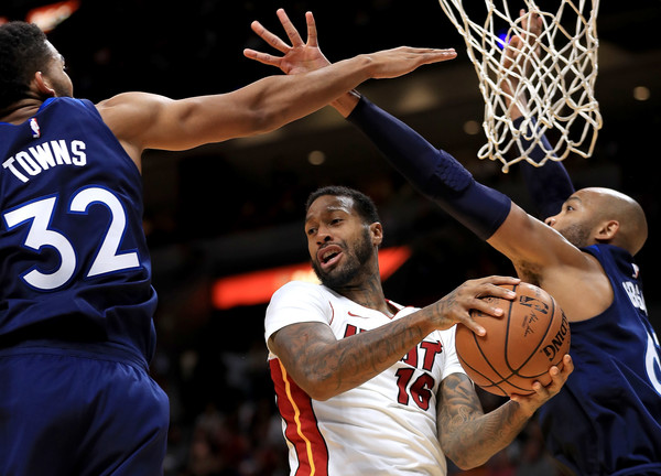 8e006189ae James Johnson Photos Photos - Minnesota Timberwolves v Miami Heat ...