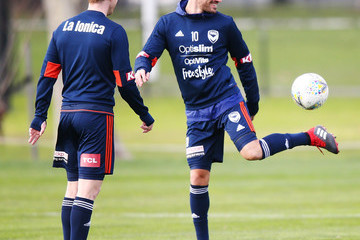 James Troisi Melbourne Victory Training Session & Media Opportunity