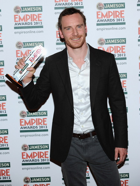 Michael Fessbender with his Empire Award