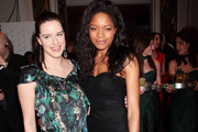 L-R Michelle Ryan and Naomie Harris attend the Jameson Empire Film Awards 2010 held at the Grosvenor House Hotel on March 28, 2010 in London, England.