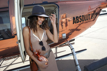 Jamie Chung Jamie Chung Boards The Absolut Elyx Copper Chopper To Coachella