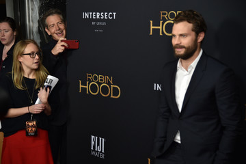 Jamie Dornan FIJI Water At The New York Special Screening Of 'Robin Hood'