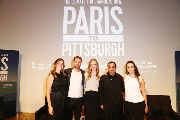 Bloomberg Philanthropies And RadicalMedia Host The Los Angeles Premiere Of 'Paris To Pittsburgh' [text,fashion,youth,event,font,team,company,performance,brand,competition,host,lindsay firestone,lauren faber oconnor,jamie margolin,l-r,los angeles,paris to pittsburgh,bloomberg philanthropies,radicalmedia,premiere]