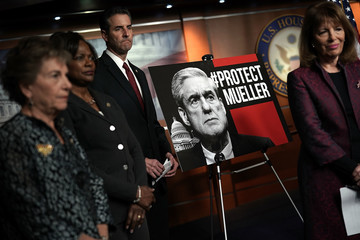 Jan Schakowsky House Democrats Hold News Conference Expressing Support of Special Counsel Robert Mueller