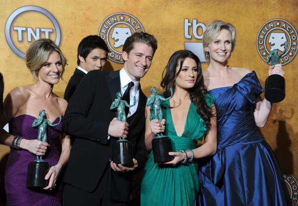 matthew morrison and lea michele. Lea Michele and Jane Lynch