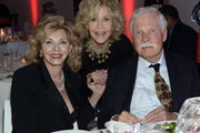 ATLANTA OCTOBER 04: Guest, Jane Fonda - GCAPP Founder Board Chair Emeritus and Media Mogul and Philanthropist Ted Turner attend The 2018 Georgia Campaign For Adolescent Power & Potential (GCAPP) EmPower Party - Hosted by Jane Fonda on October 4, 2018 at The Fairmont in Atlanta, Georgia.