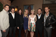 """(L-R) Producer Jamie Patricof, producer Alex Orlovsky, producer Jane Rosenthal, producer Lynette Howell, actress Michelle Williams, director Derek Cianfrance, and actor Ryan Gosling attend Jane Rosenthal and Robert DeNiro Host Special Screening of """"Blue Valentine"""" at Tribeca Grill Loft on December 5, 2010 in New York City."""