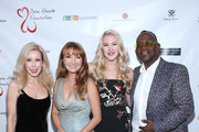 Kim Campbell, Jane Seymour, Ashley Campbell and Randy Jackson at Jane Seymour And The 2017 Open Hearts Gala at SLS Hotel on October 21, 2017 in Beverly Hills, California.