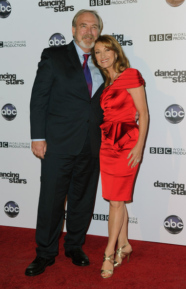 actor james keach and actress jane seymour arrive to abcdancing with the