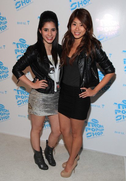 Actresses Janelle Ortiz and Ying Chang attend Walt Disney Pictures' 'Tron'