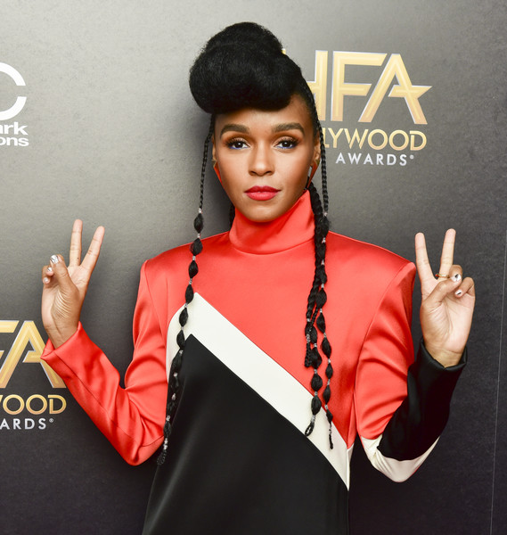 22nd Annual Hollywood Film Awards - Press Room [red,lip,beauty,forehead,fashion,finger,gesture,cool,album cover,ear,janelle mon\u00e3,e,22nd annual hollywood film awards - press room,press room,beverly hills,california,annual hollywood film awards]