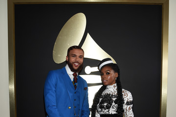 Janelle Monae Jidenna The 58th GRAMMY Awards - Red Carpet