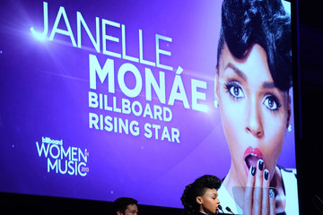 Janelle Monae Nate Ruess Arrivals at the Billboard's Women in Music Event