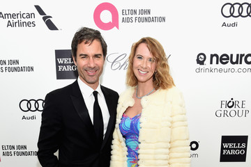 Janet Holden Arrivals at the Elton John AIDS Foundation Oscars Viewing Party — Part 3