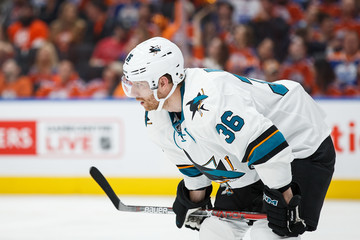 Jannik Hansen San Jose Sharks v Edmonton Oilers - Game One