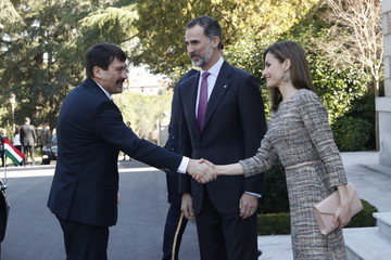 Janos Ader Spanish Royals Official Lunch With Hungarian President