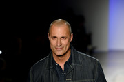 Nigel Barker walks the runway of the 4th annual Blue Jacket Fashion Show, held in partnership with Janssen Oncology to raise awareness for prostate cancer on February 05, 2020 in New York City.