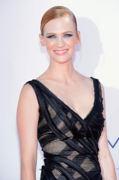 January Jones - 64th Annual Primetime Emmy Awards - Arrivals