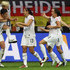 Abby Wambach Megan Rapinoe Photos - Abby Wambach of the USA celebrates the second goal with Megan Rapinoe of USA (2nd L), Alex Morgan of USA (3rd L), Alex Krieger of USA (2nd R) during the FIFA Women's World Cup Final match between Japan and USA at the FIFA World Cup stadium Frankfurt on July 17, 2011 in Frankfurt am Main, Germany. - Japan v USA: FIFA Women's World Cup 2011 Final