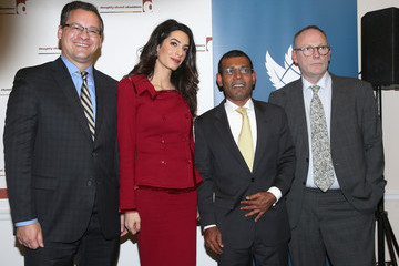 Jared Genser Press Conference with President Nasheed of the Maldives His and Lawyer Amal Clooney