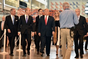 Jared Kushner Donald Trump Visits S. Carolina Boeing Plant For Debut Of 787-10 Dreamliner