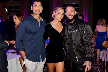 Jasmine Sanders Anthony Rhoades Popeyes Nuggets Activation At Sports Illustrated Swimsuit Party