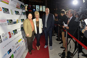 """Jason Alexander,Pamela Shaw and Christopher Ashley attend """"Lucky Stiff"""" opening at the 29th Annual Fort Lauderdale Film Festival at Amaturo Theater on November 7, 2014 in Fort Lauderdale, Florida."""