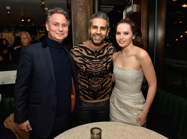 DuJour Cover Star Felicity Jones Celebrates Winter Issue With CEO And Founder Jason Binn Presented By Paul Chevalier Of Whispering Angel
