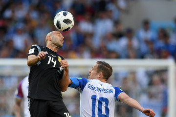 Javier Mascherano Argentina vs. Iceland: Group D - 2018 FIFA World Cup Russia