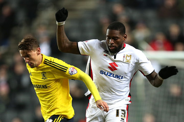 Jay Emmanuel-Thomas MK Dons v Middlesbrough - Sky Bet Championship