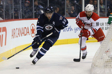 Jay McClement Carolina Hurricanes v Winnipeg Jets