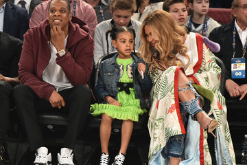 Jay-Z Blue Ivy Carter Celebrities Attend The 66th NBA All-Star Game
