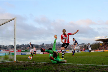 Jayden Stockley Exeter City v West Bromwich Albion - The Emirates FA Cup Third Round