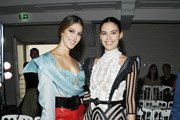 Iris Mittenaere and Sara Sampaio attend the Jean Paul Gaultier Haute Couture Fall/Winter 2019 2020 show as part of Paris Fashion Week on July 03, 2019 in Paris, France.