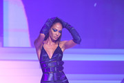 Joan Smalls walks the runway during the Jean-Paul Gaultier Haute Couture Spring/Summer 2020 show as part of Paris Fashion Week at Theatre Du Chatelet on January 22, 2020 in Paris, France.